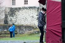 Vánoce na vodním hradě Lipý mnoho návštěvníků nepřilákaly.