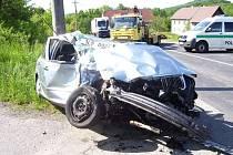 Nehoda hasičů s Fábií v Bohaticích
