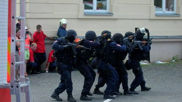 Zásahová jednotka v akci.