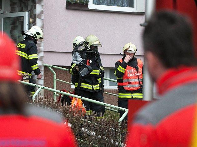 Úterní požár na českolipském sídlišti Špičák.