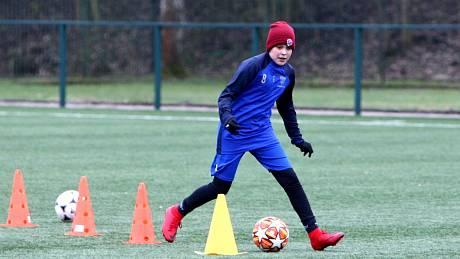 Trénink starších žáků českolipského Arsenalu.
