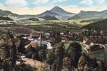 1919. Pohled na dolní část Kamenického Šenova.