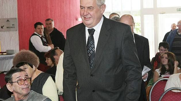 Miloš Zeman na návštěvě v Novém Boru.