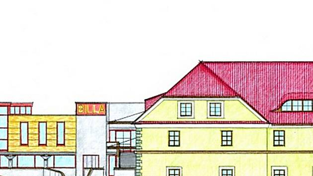 Pavljukův návrh nákupní galerie v areálu bývalého českolipského pivovaru propojuje staré s novým.