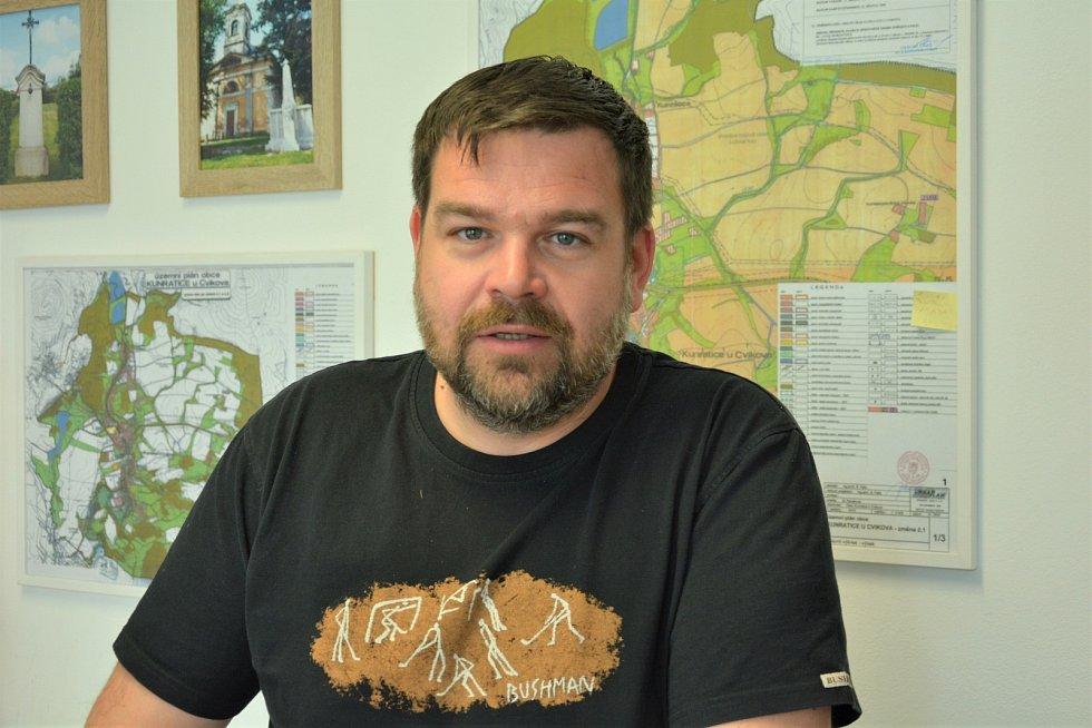 Michal Iwanejko, starosta obce Kunratice u Cvikova.