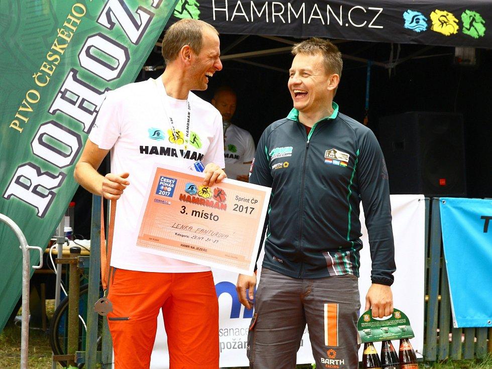 V Hamru na Jezeře a jeho okolí se o víkendu konal čtvrtý ročník triatlonového závodu Hamrman.