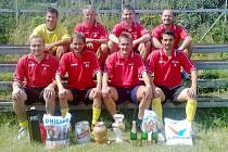 Vítězný celek turnaje KM - Prona v malé kopané KaVr Team.