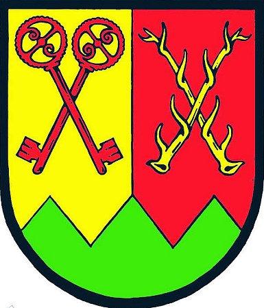ZNAK POLEVSKA. Nové atributy obce připomínají například prastarou sklářskou tradici nebo jelení říjiště vokolí obce.
