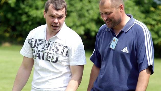 Trenéri Vladimír Jeníček (vlevo) se svým kolegou z České Lípy Michaelem Šimkem.