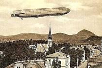 9. listopadu 1913 přistála v Novém Boru vzducholoď Sachsen (Sasko) z dílny hraběte Zeppelina.