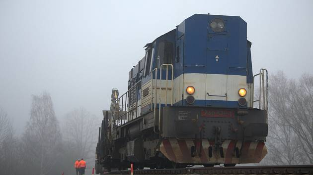 Práce na trati Česká Lípa - Nový Bor.