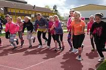 ¨Na školáky čekal pětiboj, jehož součástí byl i běh na 1000 m.