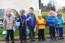 Radost v cíli po Běhu kolem Panské skály měly i děti.