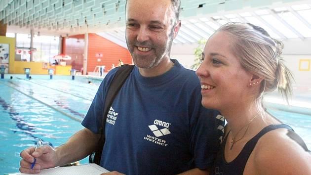 Královna sportovního Českolipska za rok 2012 Petra Chocová se svým trenérem a tatínkem Tomášem.
