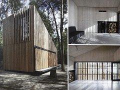 Dřevěná chata získala hlavní cenu v soutěži Grand Prix architektů 2015.