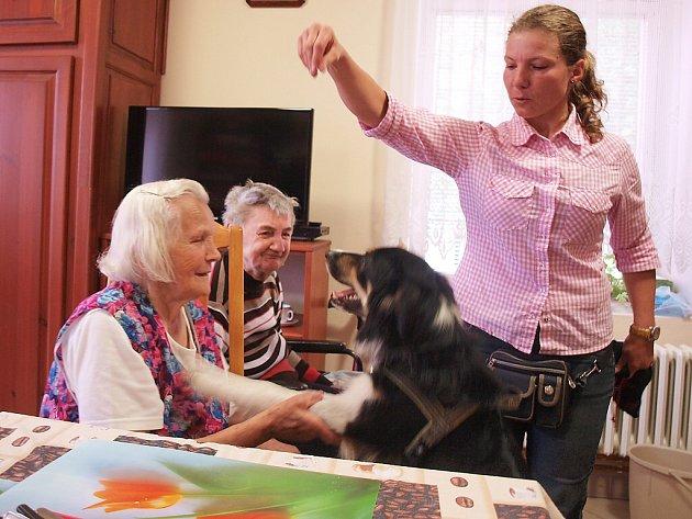 Každé úterý mají senioři v Domově důchodců ve Sloupu v Čechách o něco zajímavější dopoledne než v jiné všední dny.