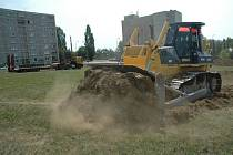 Stavební práce začaly.