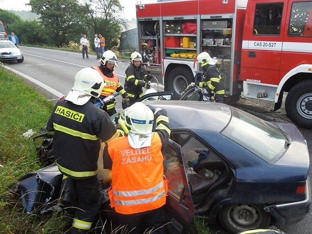 Pondělní nehoda u Zahrádek.