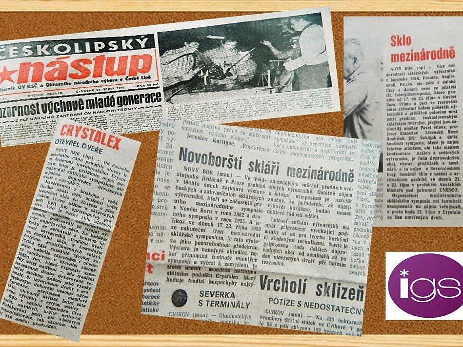 První Mezinárodní sklářské sympozium se v Novém Boru uskutečnilo před 33 lety, v říjnu 1982.