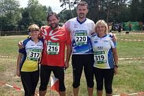 Zleva Olga Koutná, Stanislav Koutný, Michal Rejholec, Andrea Rejholcová.