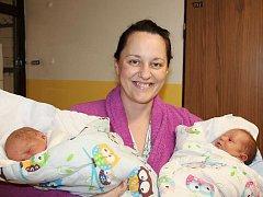 Petra Šonová z Rumburku byla jednou ze čtyř maminek, které tento týden přivedly v českolipské porodnici na svět dvojčátka.