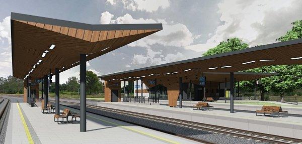 Budoucí podoba vlakového nádraží vČeské Lípě.