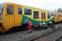 Středeční nehoda na novoborském vlakovém nádraží.