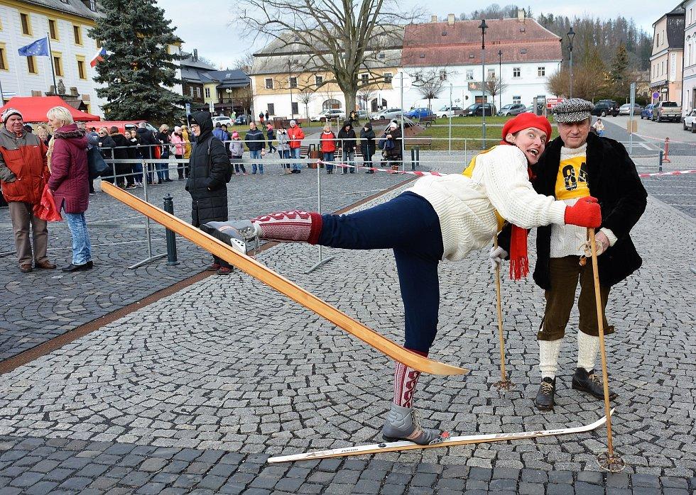 Masopust v Novém Boru v sobotu 8. února 2020.