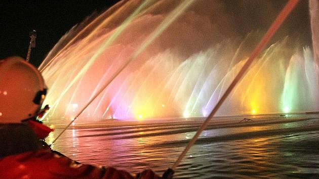 Hasičská fontána.