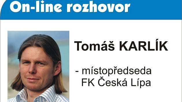 on-line rozhovor s místopředsedou FK Česká Lípa Tomášem Karlíkem