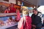 První letošní farmářské trhy na Škroupově náměstí v České Lípě.