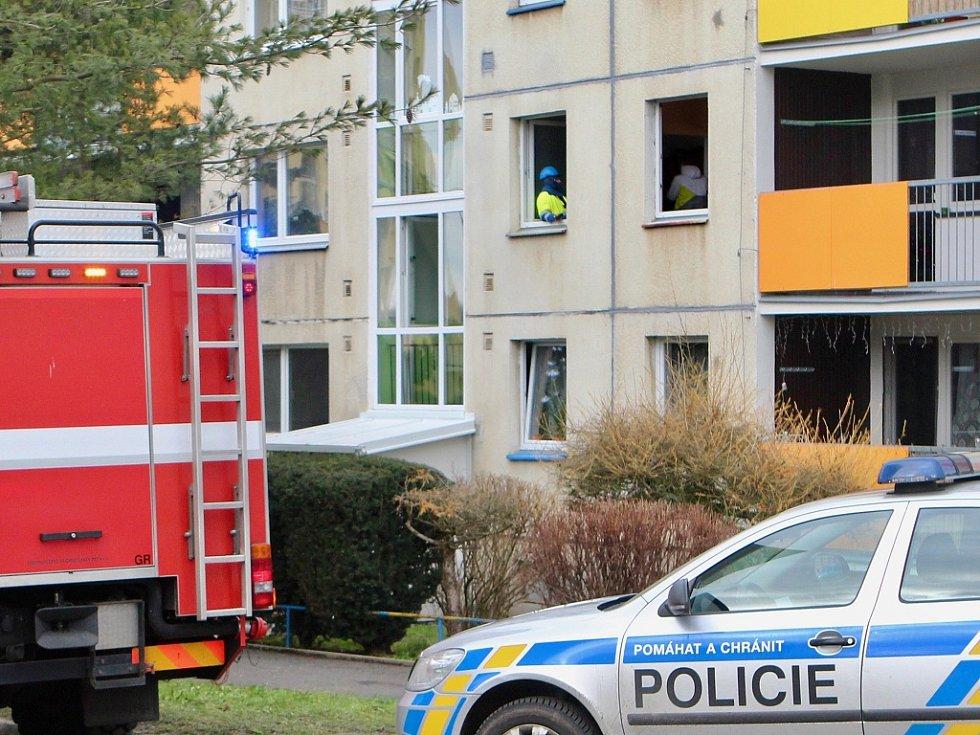 Zásah hasičů na českolipském sídlišti Sever
