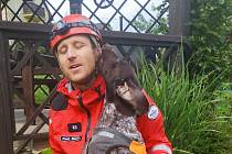 Úspěšným získáním atestu se může pochlubit profesionální hasič - kynolog Pavel Málek z Libereckého kraje s tříletou fenkou německého krátkosrstého ohaře.