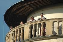 Na závěr sezony uspořádali na Lemberku výstup na věž.