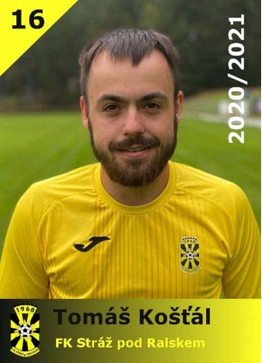 Tomáš Košťál je odchovancem fotbalu ve Stráži pod Ralskem.