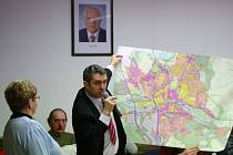 Zatím jen na mapě je k vidění, jak by se mohla v příštích letech změnit Česká Lípa.