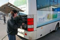 Motoristům v České Lípě slouží čerpací stanice na stlačený zemní plyn (CNG) v sousedství autobusového náraží.