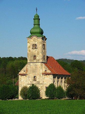 Dubnice: kostel Narození Panny Marie.