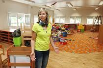 KŘEŠICE. Takhle se vytopená škola a školka, odkud teď přijely děti na Českolipsko, chystala po povodních na školní rok.
