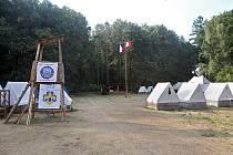 Skautský tábor. Ilustrační fotografie.