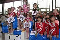 Doksy byly zastoupeny v 5 kategoriích a gymnastky vybojovaly 6 medailí a dvě vítězství na kladině.