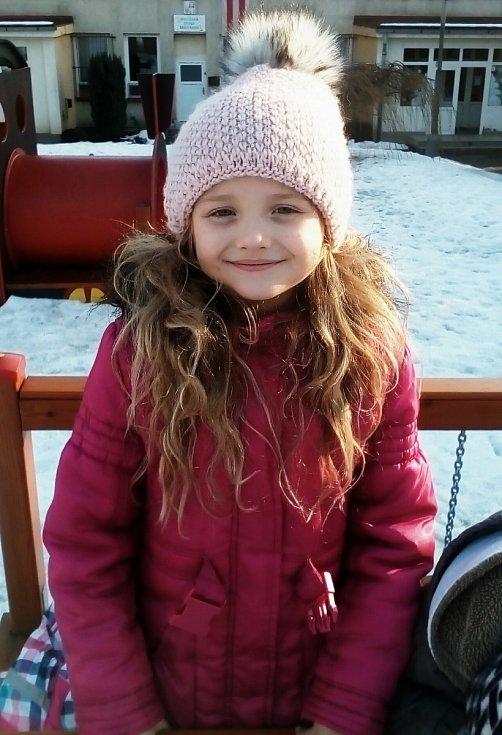2. Tina Merglová - 7 let, Ústí nad Labem.