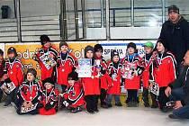 Malé hokejové naděje České Lípy z kategorie přípravka vybojovaly na turnaji v Kolíně cenné bronzové medaile.