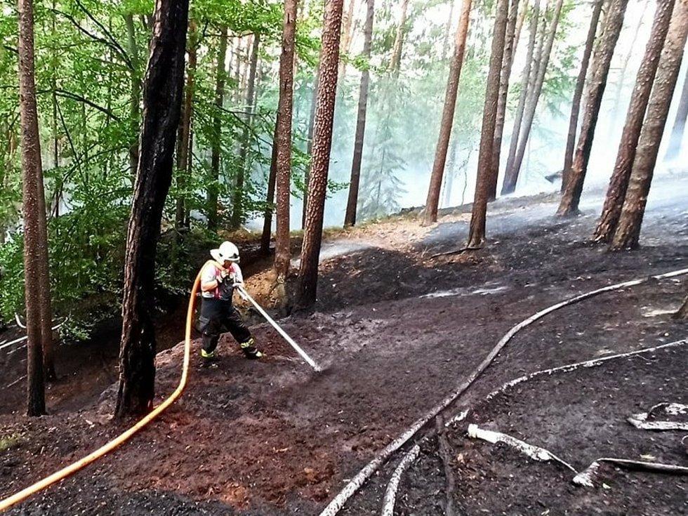 Sedm hasičských jednotek zasahuje u požáru v Ralsku.