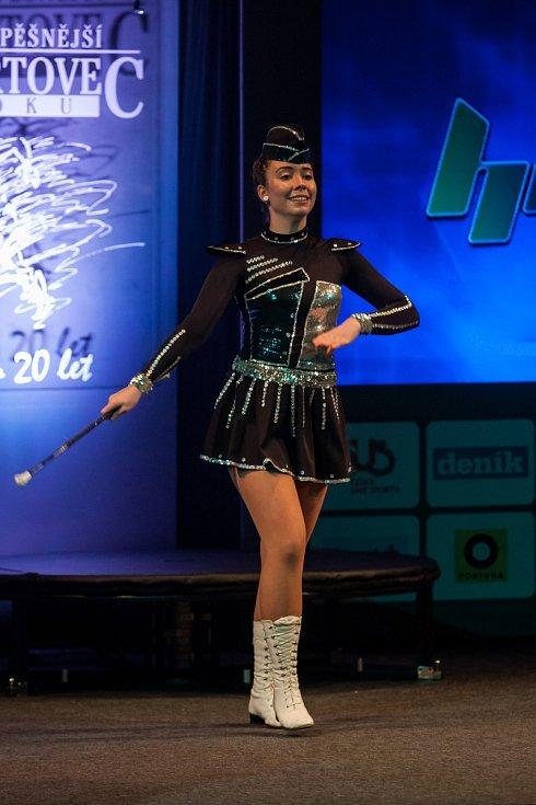 Diváci si užili vystoupení Jany Rodrové, reprezentantky Novoborských mažoretek.
