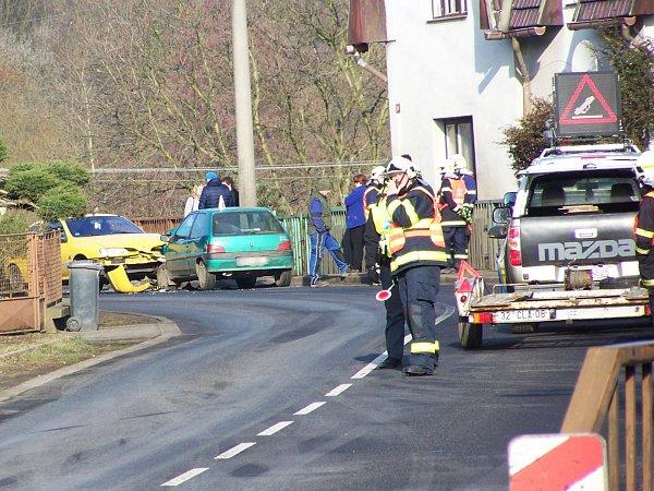 Sobotní nehoda vHorní Polici.