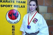 Tereza Zlatohlávková se stříbrnou medailí z ME