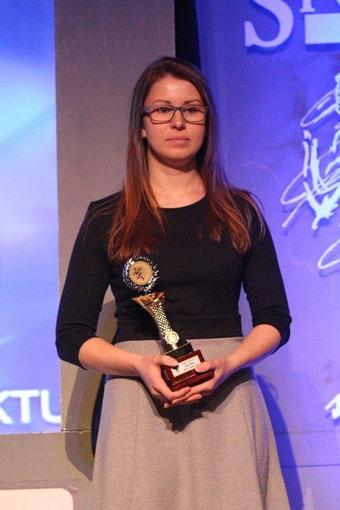 Aneta Brabcová na vyhlášení nejúspěšnějších sportovců roku Českolipska za 2018.