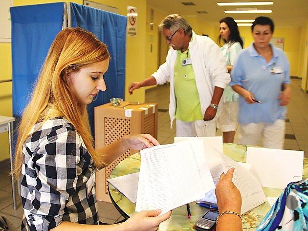 Volby v českolipské nemocnici.