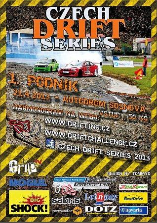 Hrajte sDeníkem ovstupenky a jízdu závodním automobilem na Drif závodech vSosnové uČeské Lípy.